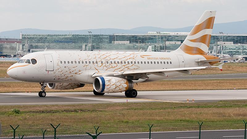 British Airways mit Sonderlackierung anlässlich der Olympischen Sommerspiele // Airbus A319-131 // G-EUPG
