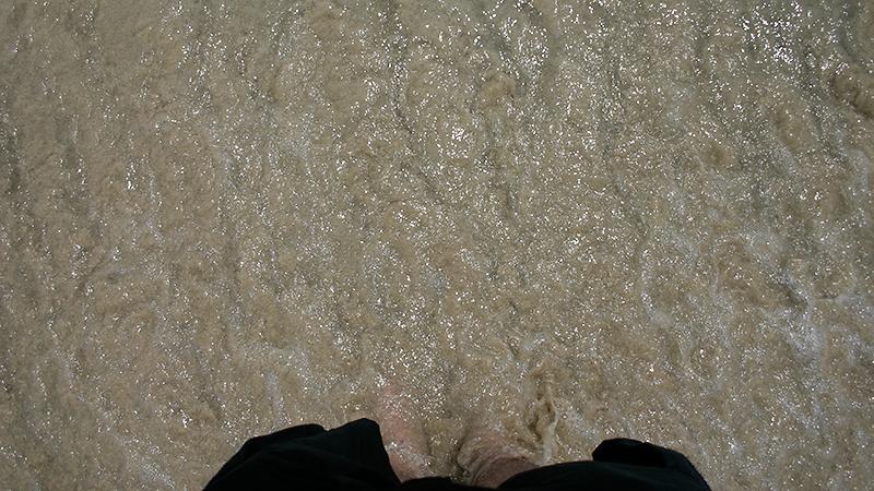 ...und das letzte Mal Wasser um die Füße herum...