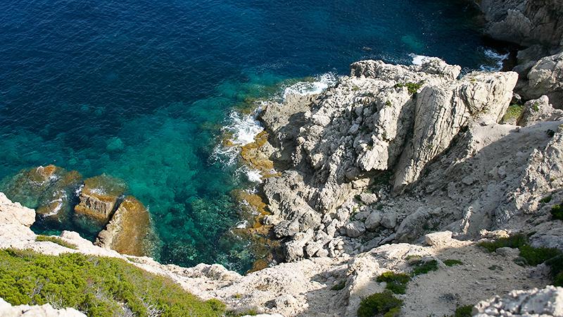 Türkis, blau, grün, weiß, grau - Farbpalette am Meer
