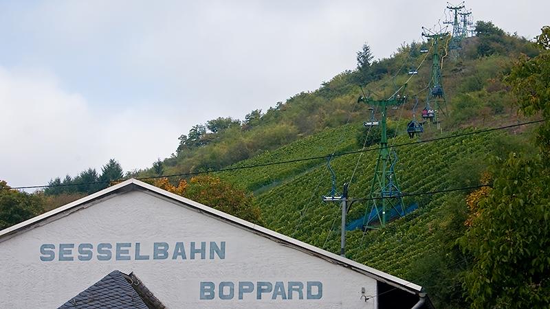 Talstation der Sesselbahn Boppard