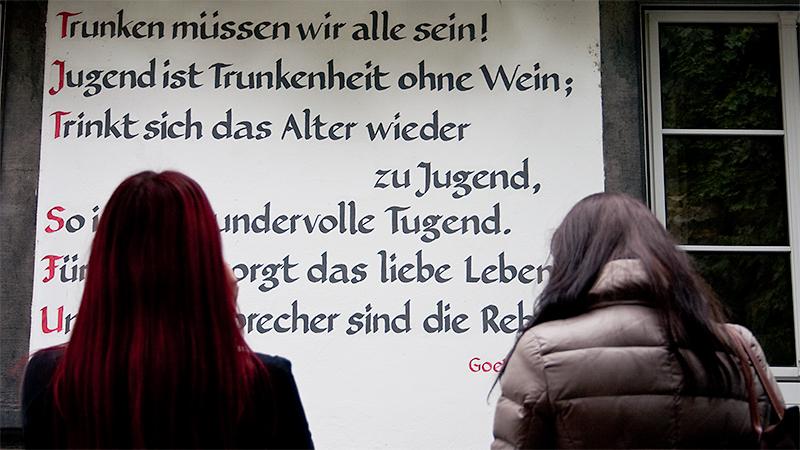 Sinnieren über das Zitat von Goethe: Christina und Nicole