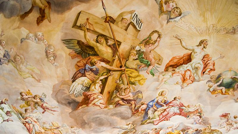 Johann Michael Rottmayrs letztes großes Werk: das Fresko in der Kuppel