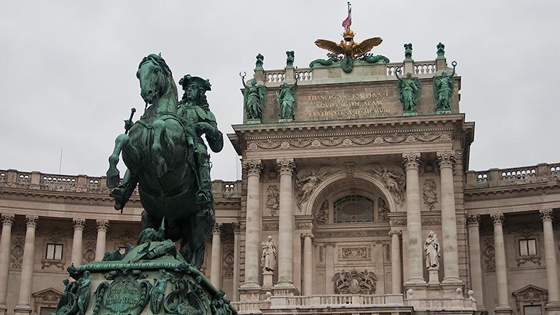 Reiterdenkmal Prinz Eugen von Savoyen vor der Hofburg