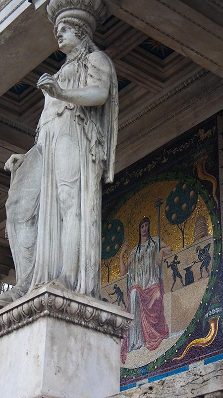 Allegorie mit Statue