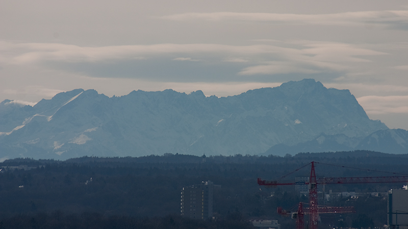 Zugspitze - rund 90 Kilometer entfernt
