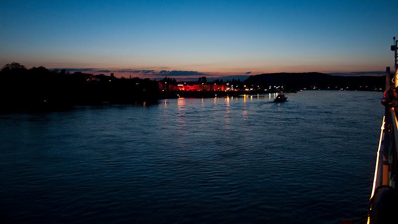Start von Rhein in Flammen Höhe Linz am Rhein
