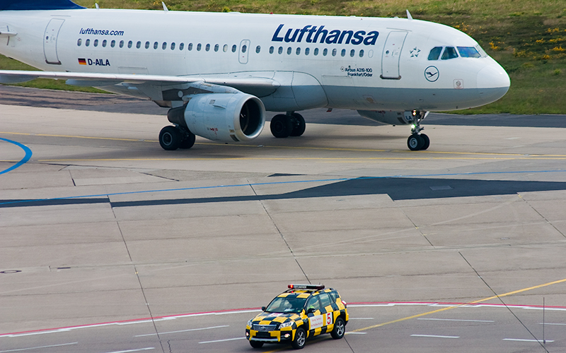 """Frisch gelandet - D-AILA (""""Frankfurt/Oder"""", Airbus A319-100) der Lufthansa"""