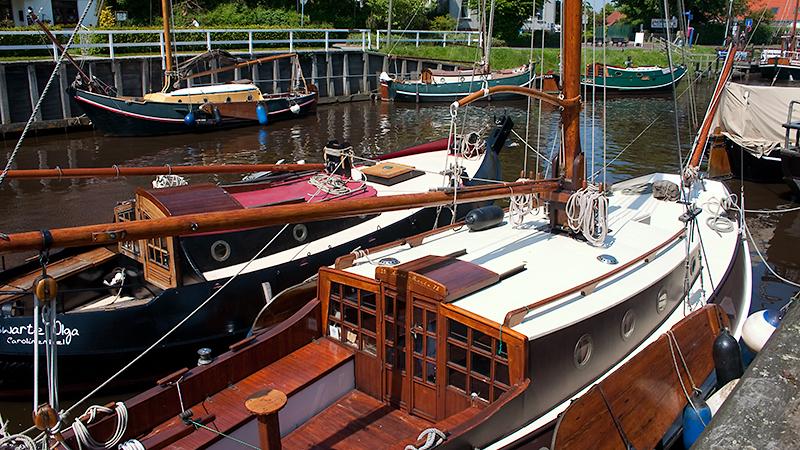 Plattboden-Boote auf der Harle