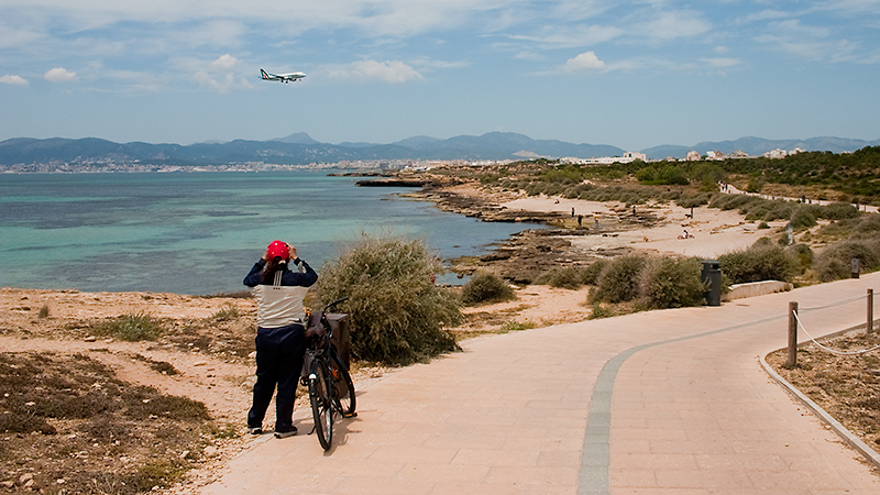 Radweg von Can Pastilla Richtung Palma: auch zum Planespotten geeignet