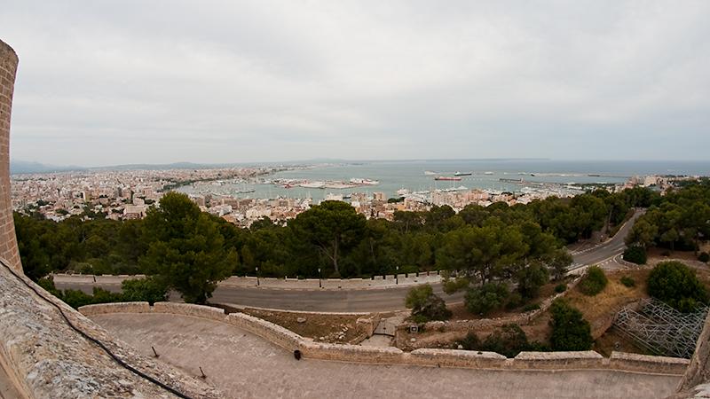 Palma de Mallorca vom Castell de Bellver aus gesehen