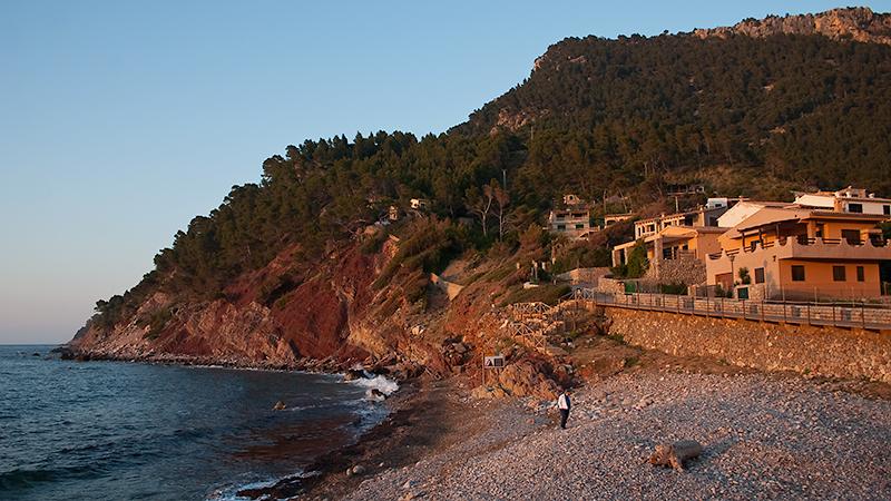 Port de Valldemossa zur Sonnenuntergangszeit