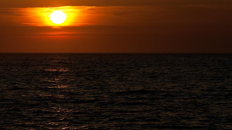 Sonnenuntergang am Ufer von Port de Valldemossa