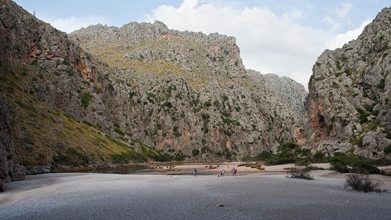 Mündungsbereich des Torrent de Pareis