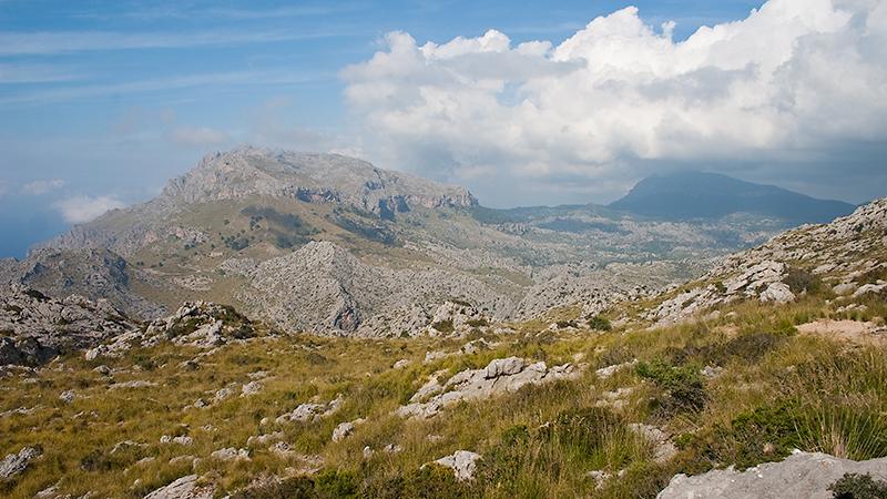 Blick ins Tramuntana Gebirge