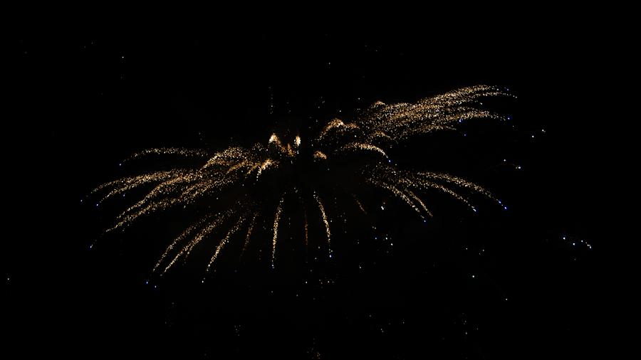 Galaxieförmiges Feuerwerk