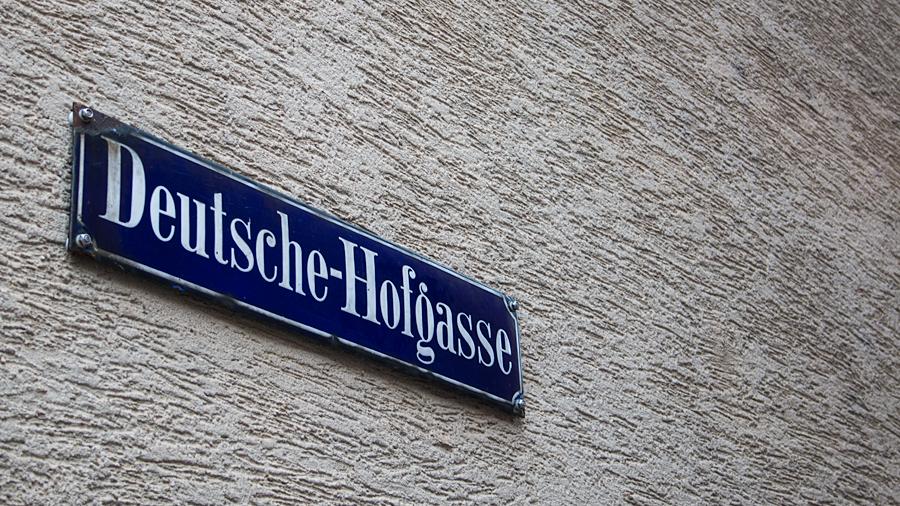 Eine von vielen kleinen Gässchen: Deutsche Hofgasse