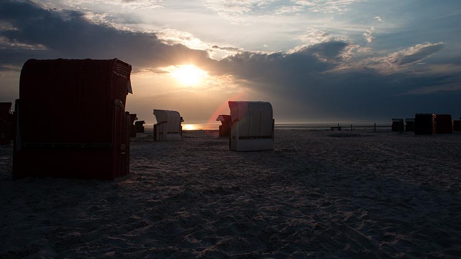 Spätnachmittag am Strand von Bensersiel