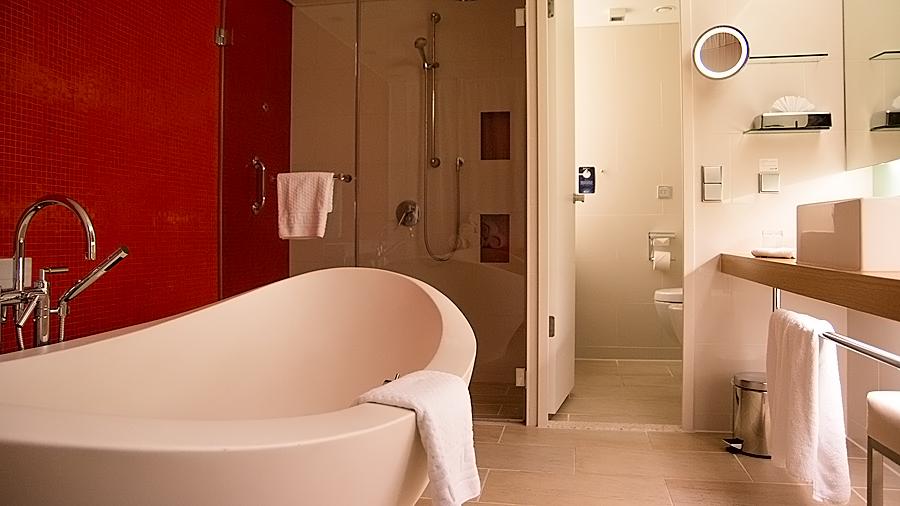 ...aber das Highlight ist natürlich die Präsidentensuite - hier das Badezimmer.