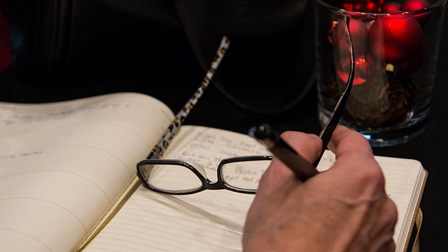 Block und Stift immer dabei