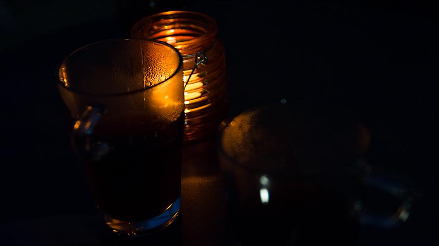Bloggerpause bei Glühwein auf der Terrasse