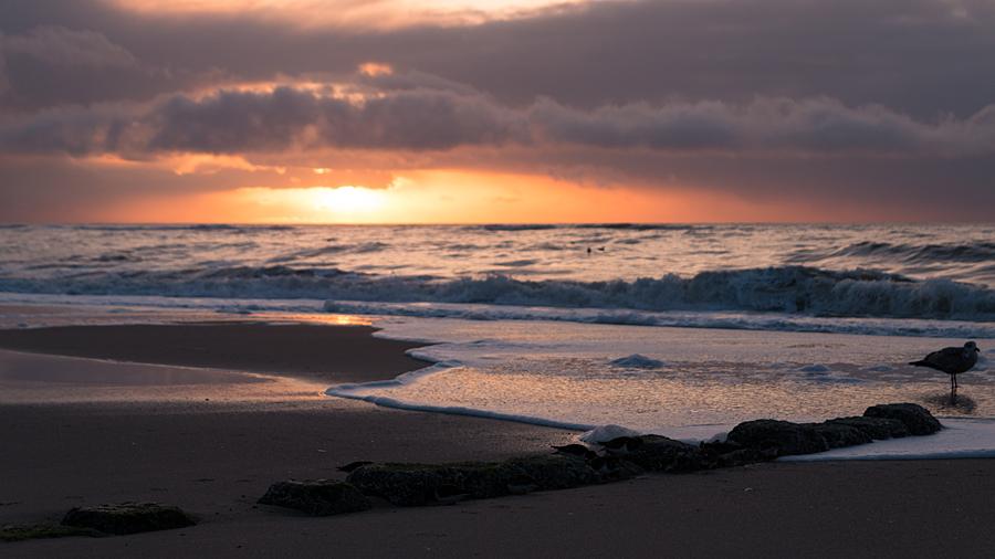 Sonnenuntergang am Strand von Westerland