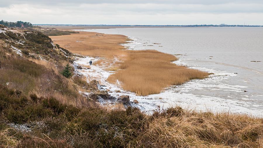Blick Richtung Morsum und Westen des Kliffs
