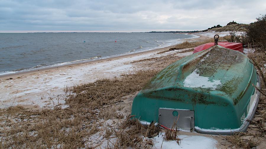 Boote im Winterschlaf