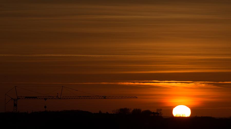 Sonnenaufgang, aufgenommen vom Balkon