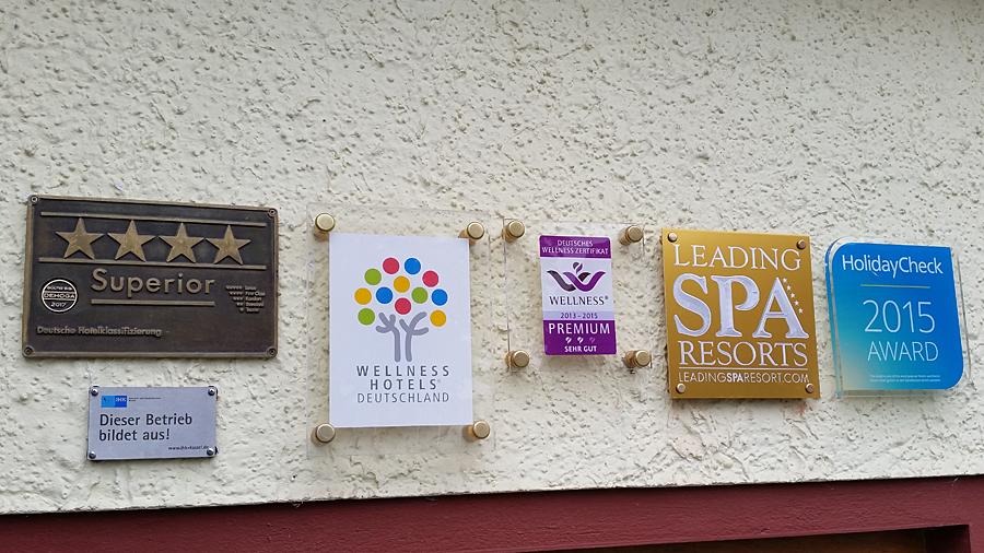 Auszeichnungen des Hotels