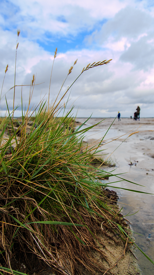 Übergang zum kinderfreundlichen Strand