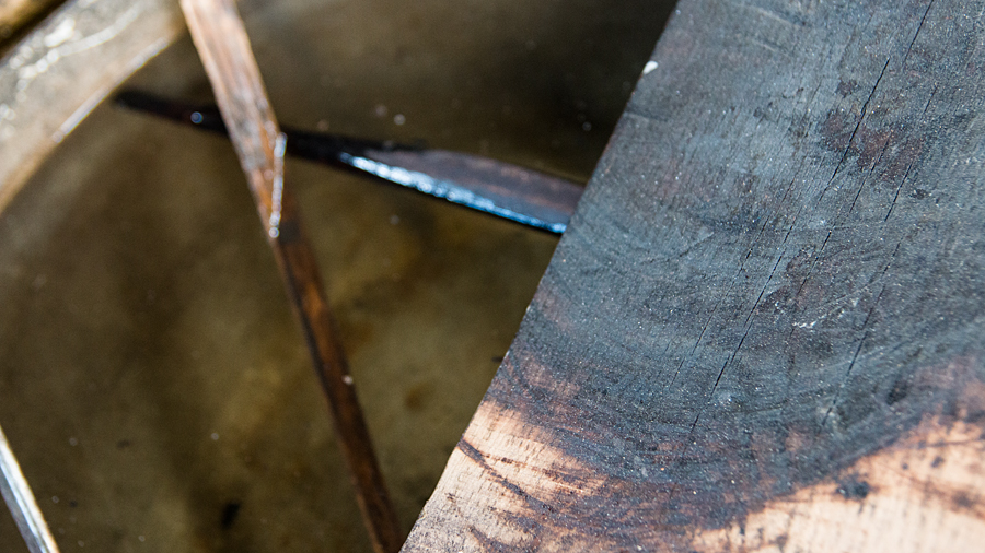 Angebranntes Holz