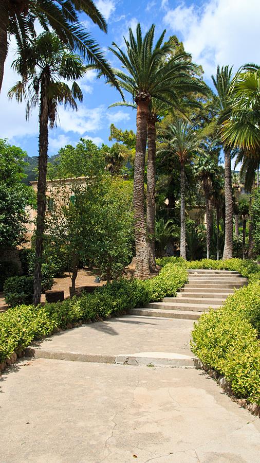 Herrenhaus inmitten der Gärten: beherbergt heute ein Museum