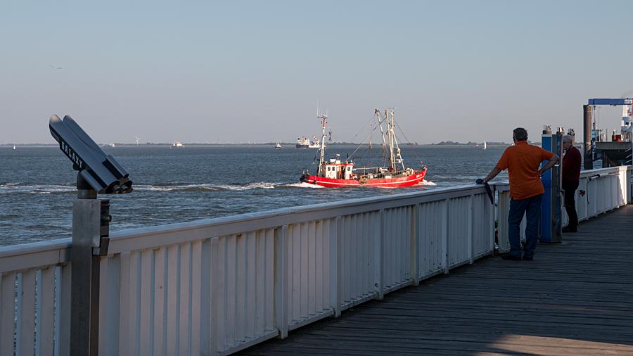 Blick von der Alten Liebe auf die Elbe