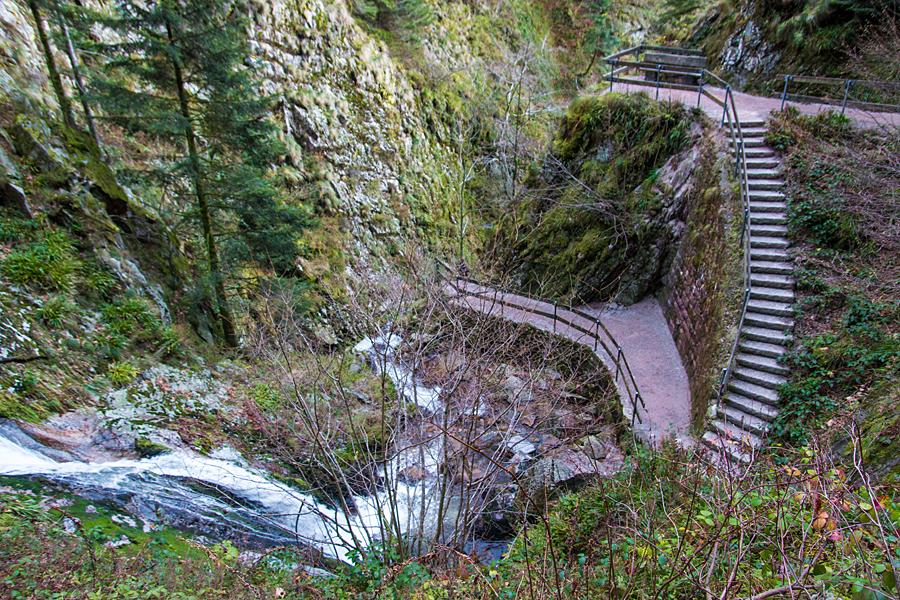 Eine der Stufen der Allerheiligen Wasserfälle