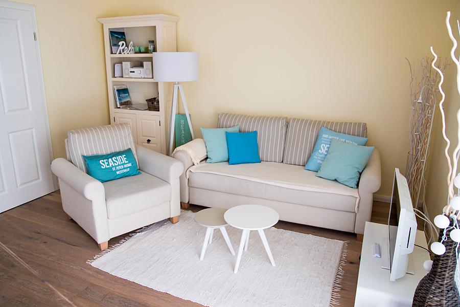 Wohnbereich mit individuellen Kissen