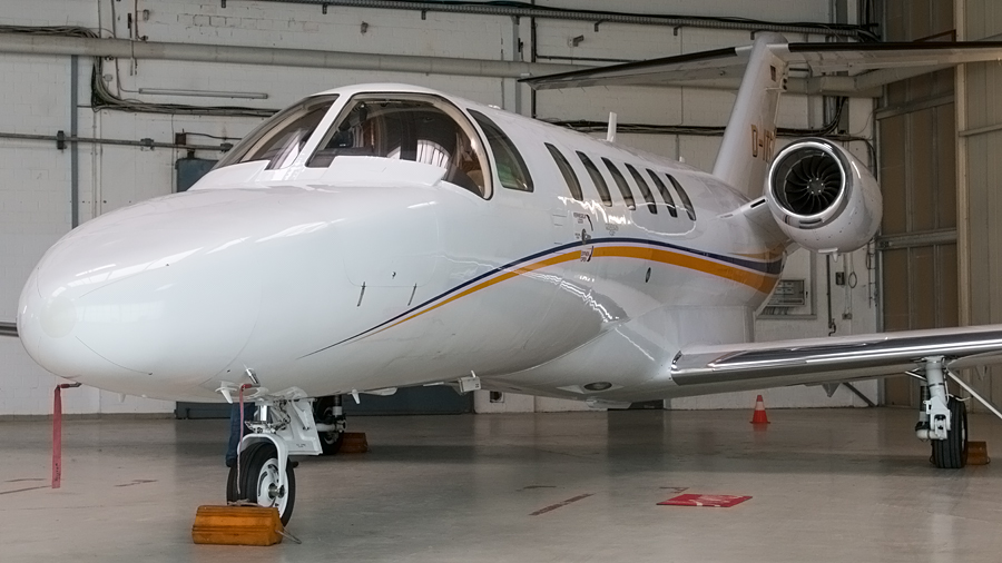 Cessna 525A Citation CJ2+(D-ITOP) im Hangar